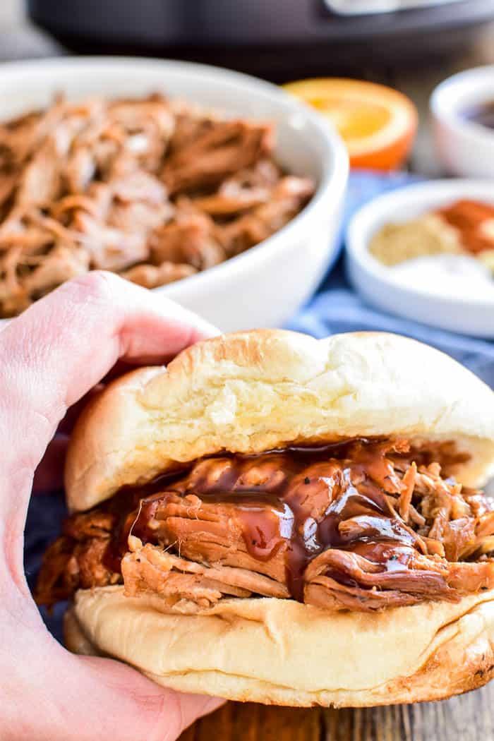 Honey Orange Pulled Pork Sandwich
