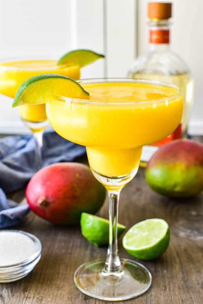 Frozen Mango Margarita in a glass