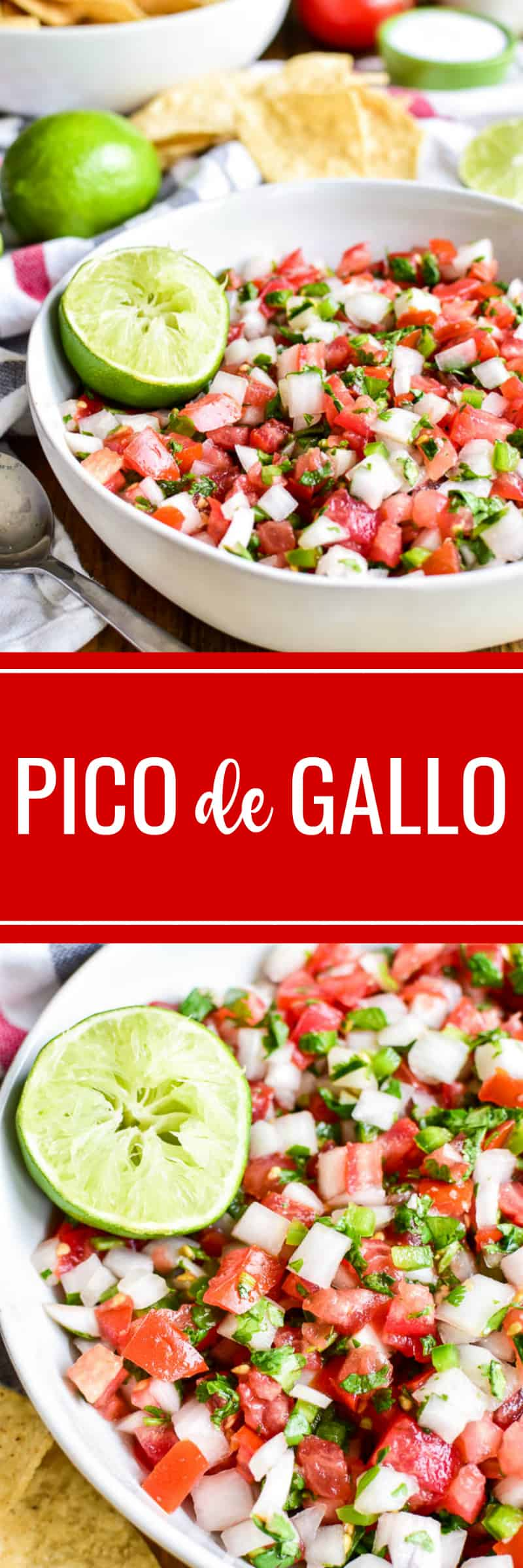 Collage image of homemade Pico de Gallo