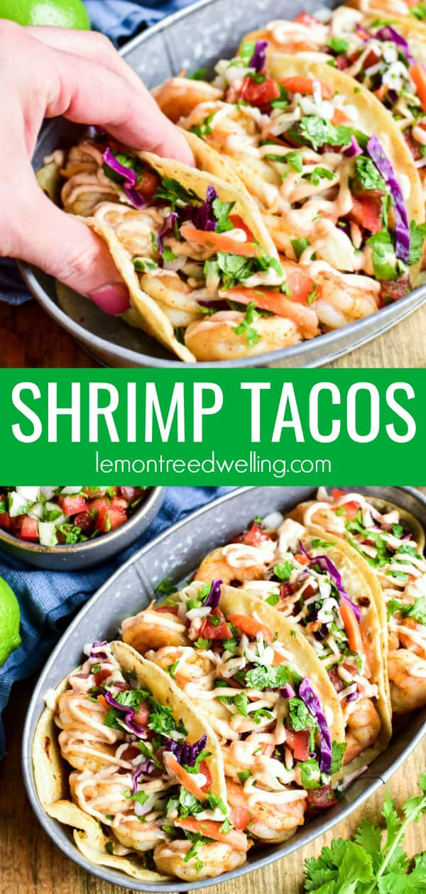 Collage image of Shrimp Tacos