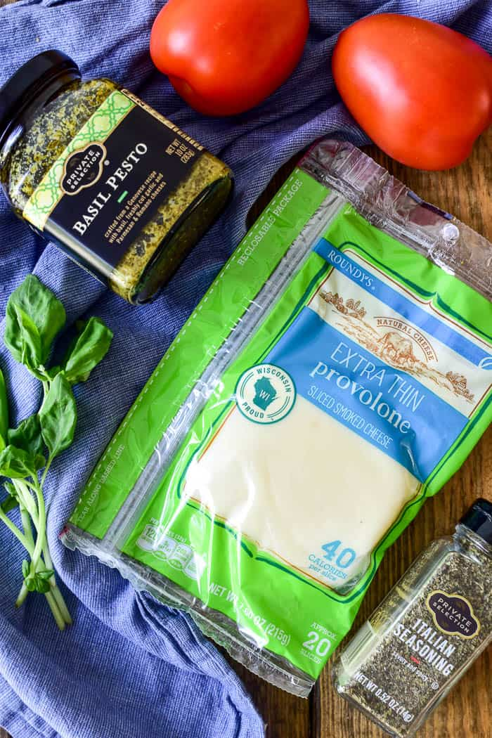 Roundy's Provolone Cheese and Private Selection Basil Pesto & Italian Seasoning