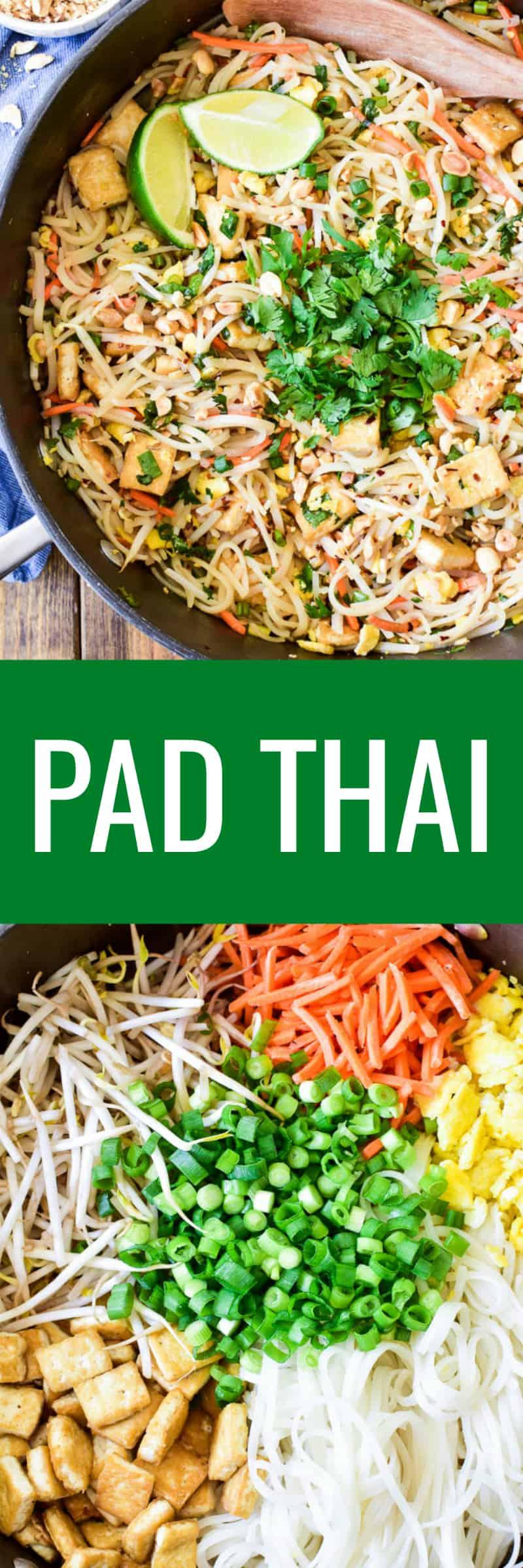 Collage image of Pad Thai