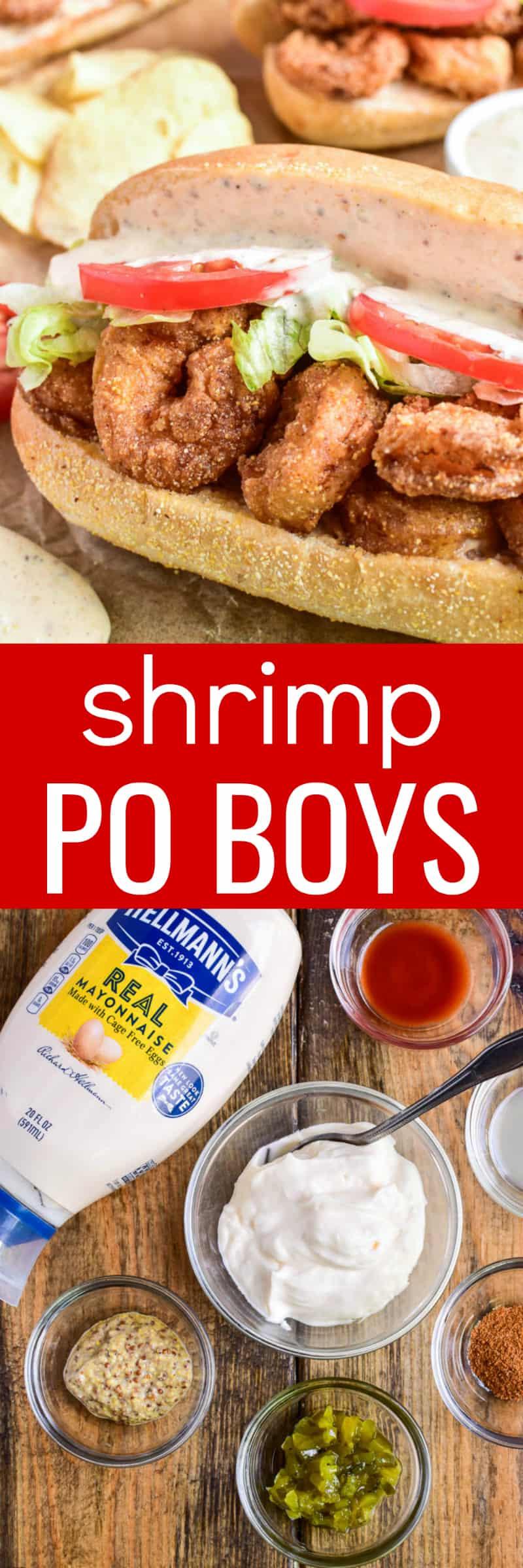 Collage image of Shrimp Po Boys