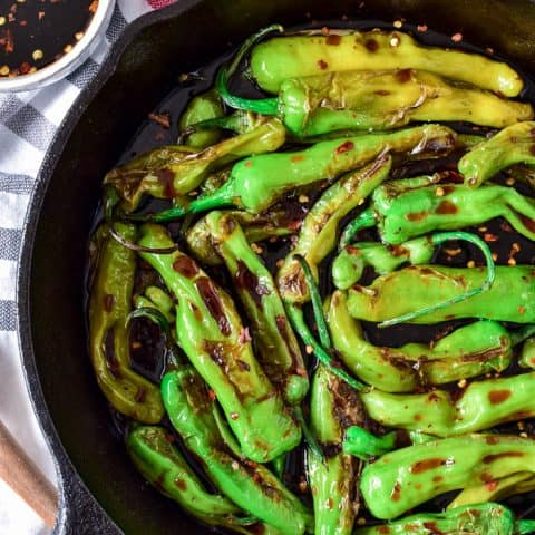 Soy Glazed Shishito Peppers