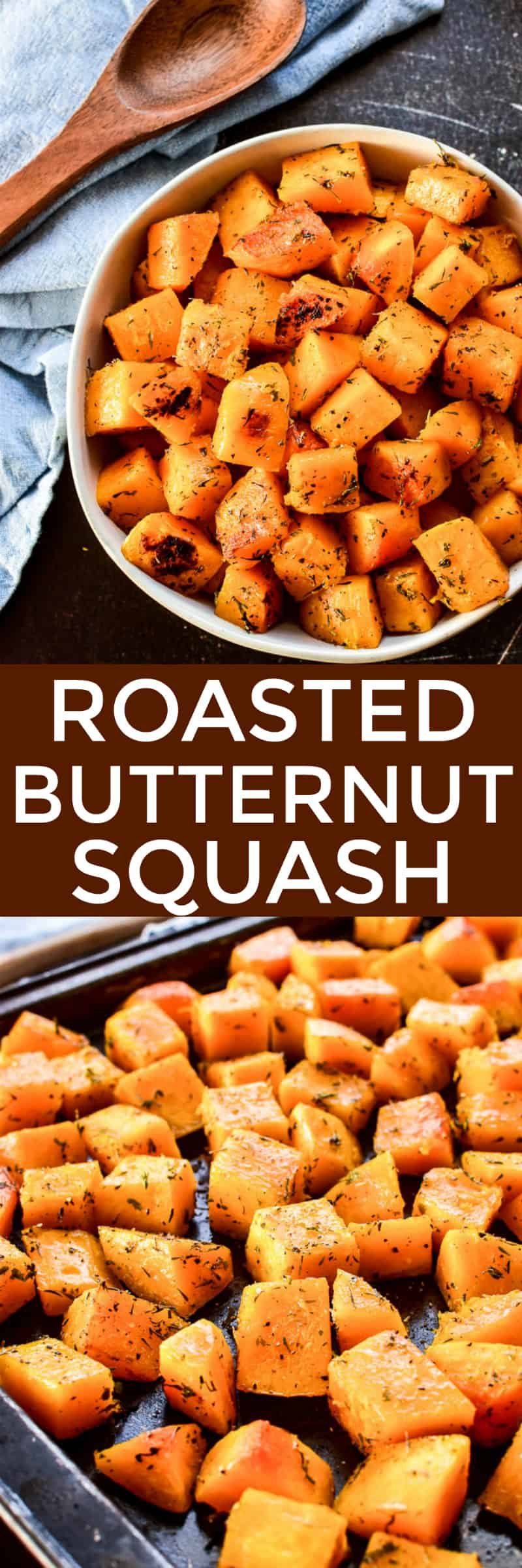 Collage image of Roasted Butternut Squash
