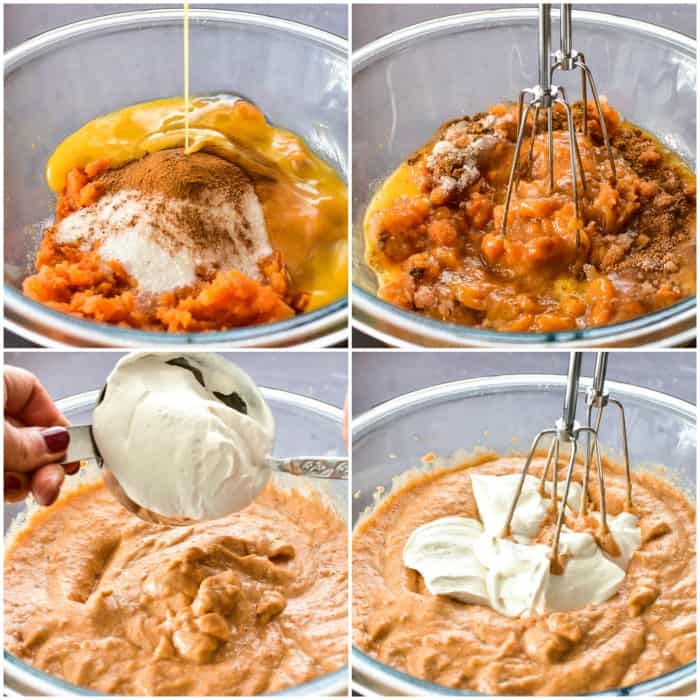 Step by step - how to make sweet potato pie filling