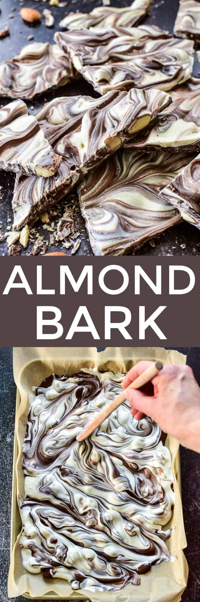 Collage image of Almond Bark
