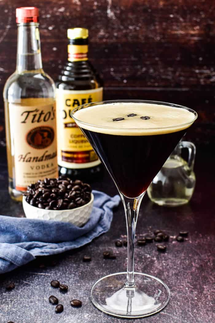 Espresso Martini in glass