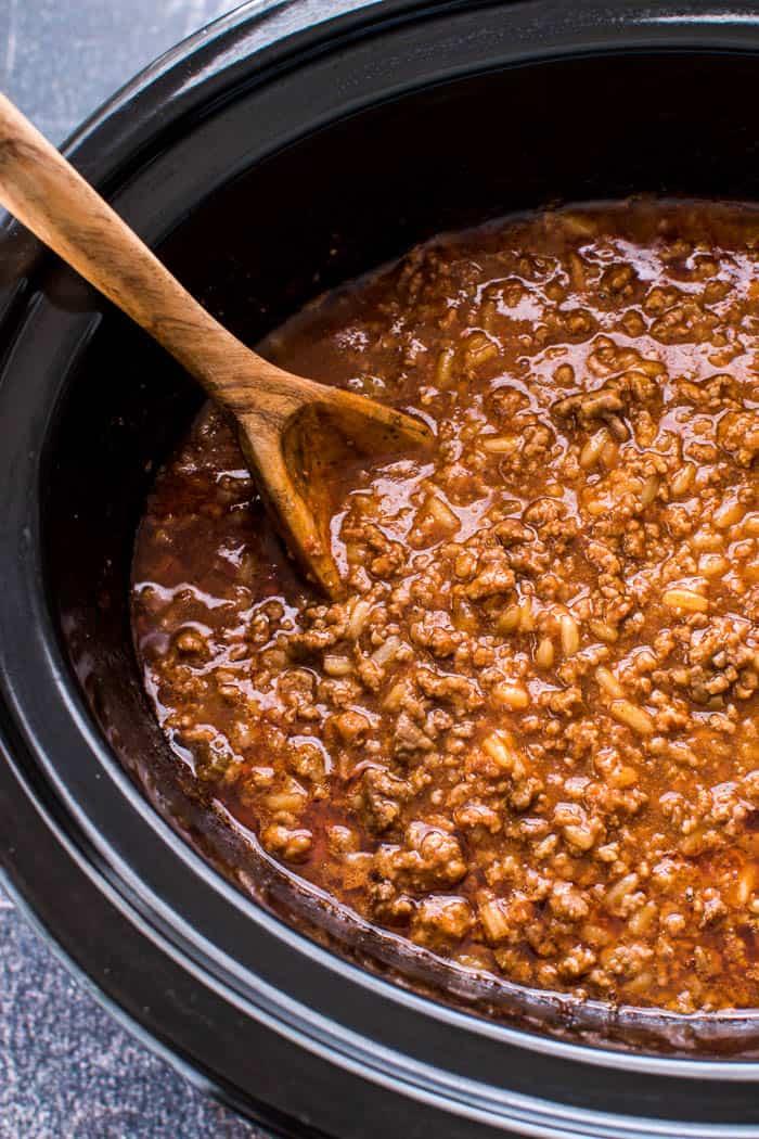 Sloppy Joe mixture in crock pot