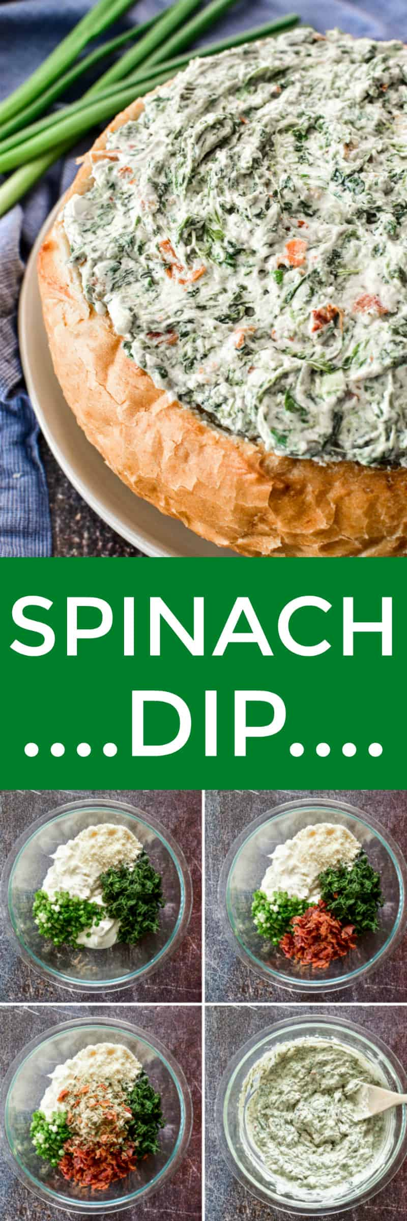 Spinach Dip collage