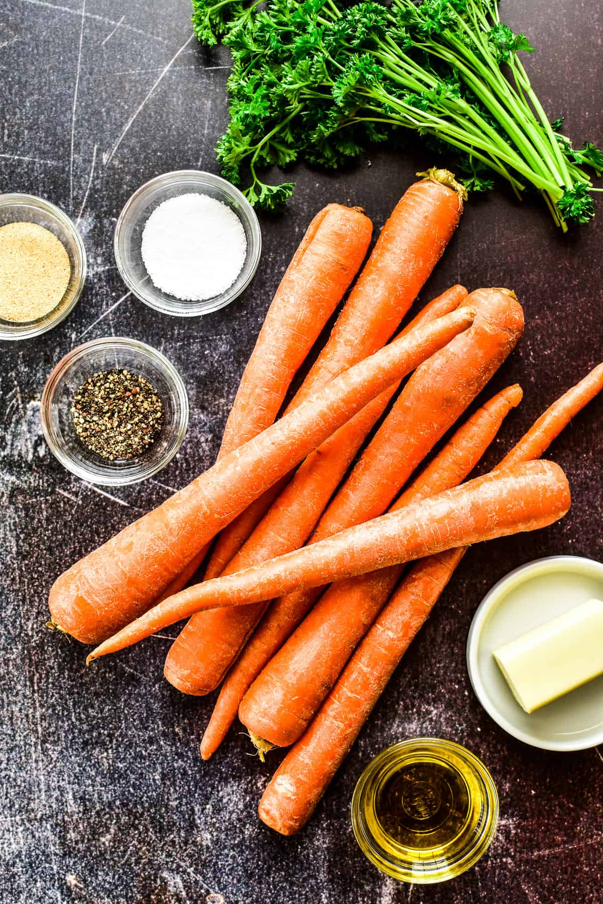 Ingredients for Roasted Carrots