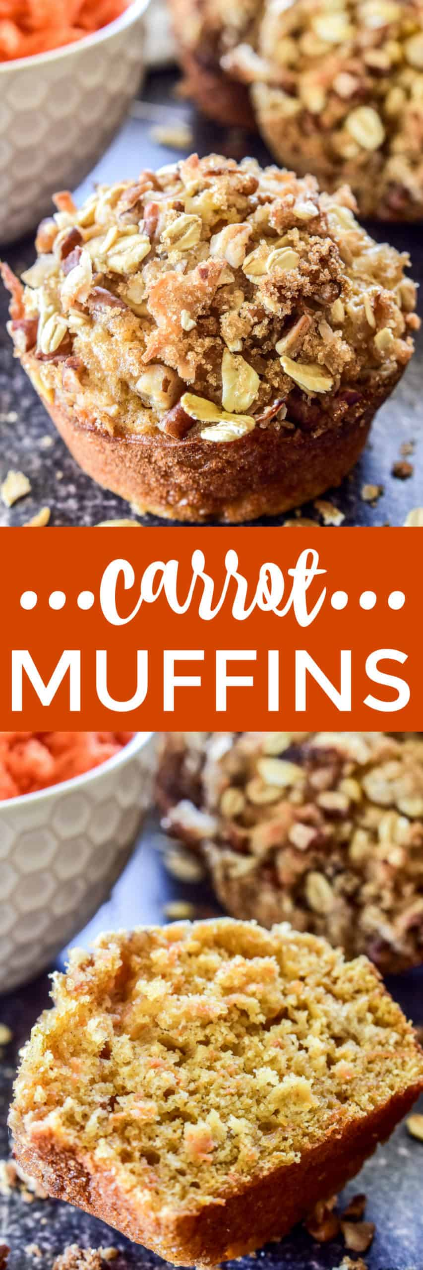 Carrot Muffins collage with text