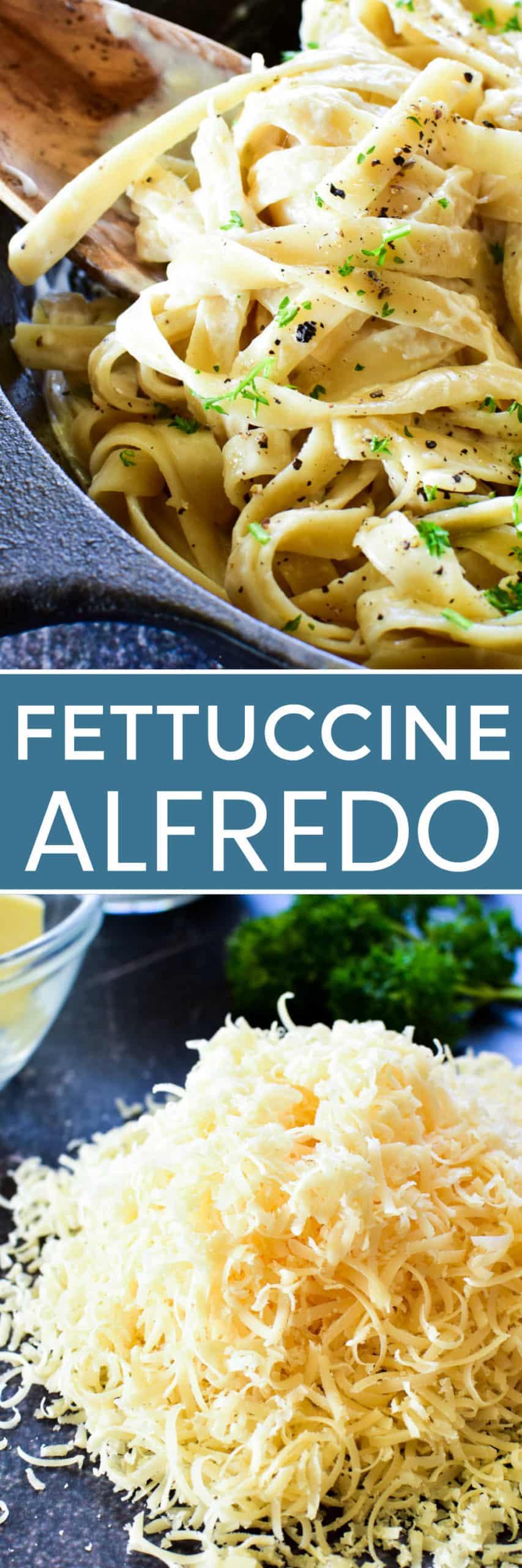 Collage image of Fettuccine Alfredo