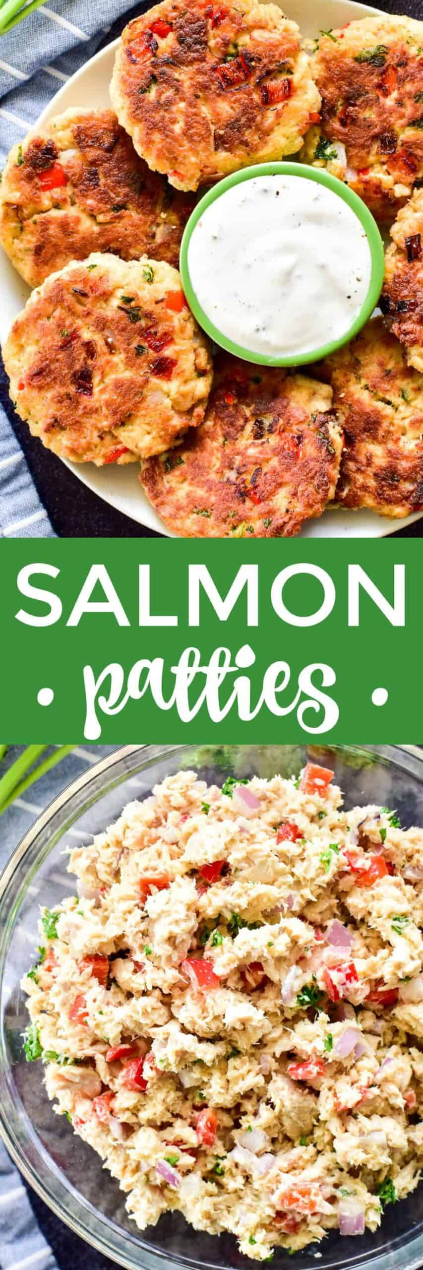 Collage image of Salmon Patties