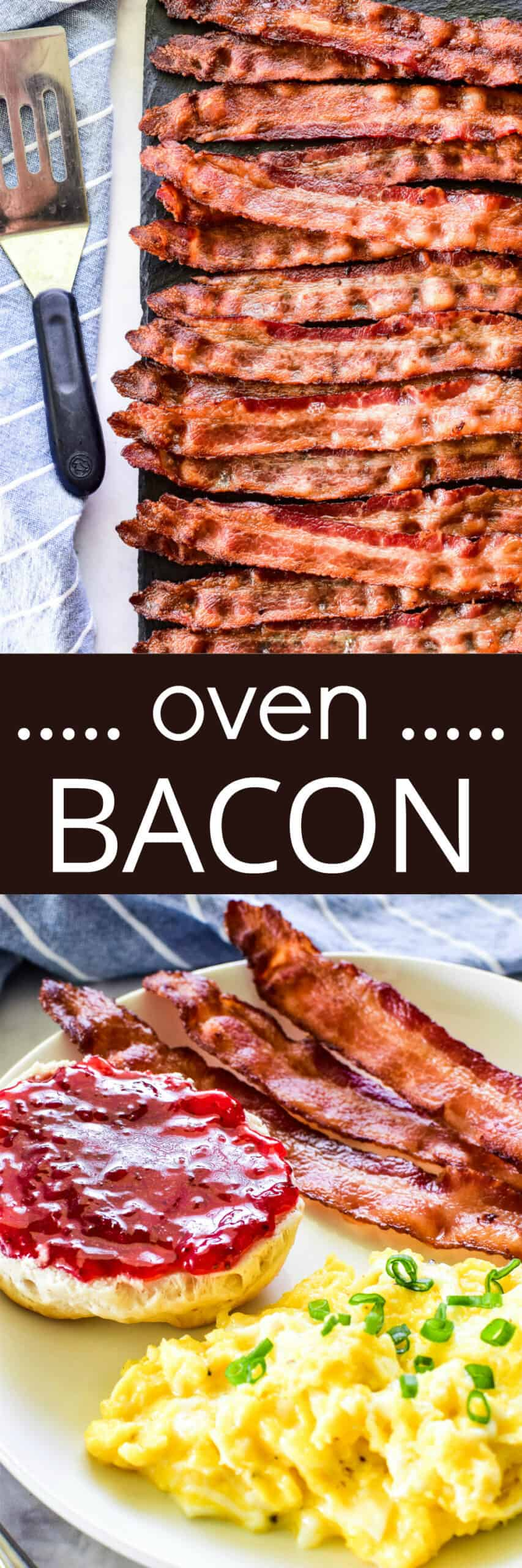 Collage image of Oven Bacon