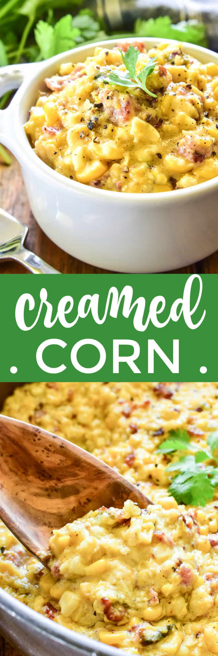 Collage image of Creamed Corn