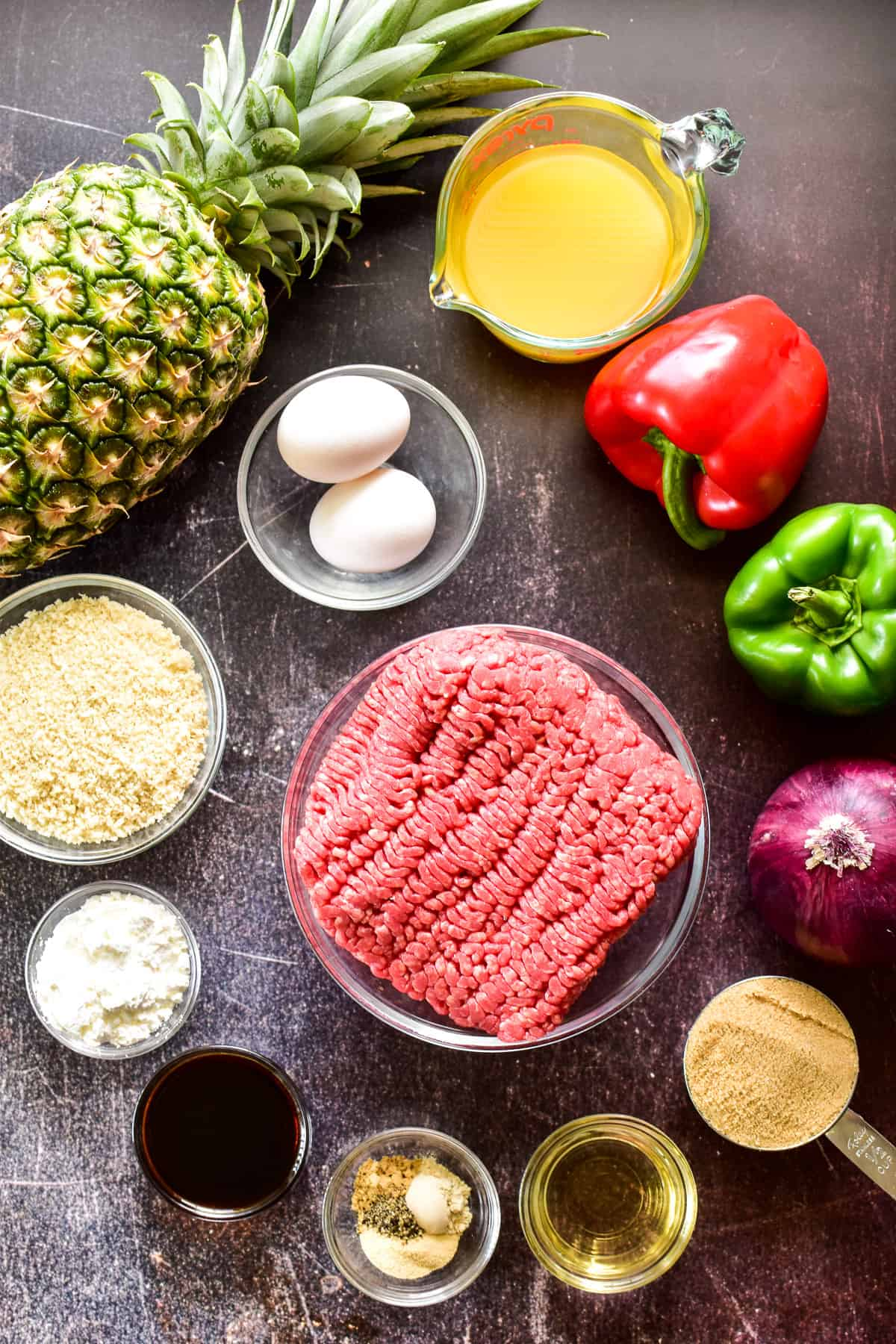Hawaiian Meatball ingredients
