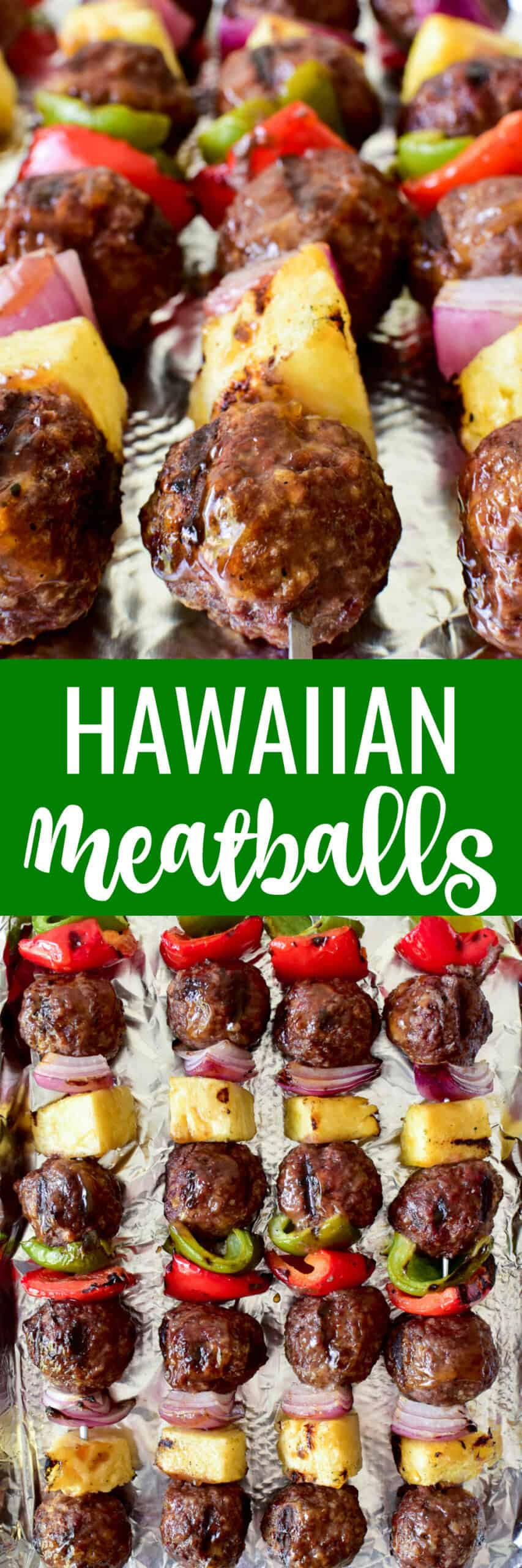 Collage image of Hawaiian Meatballs