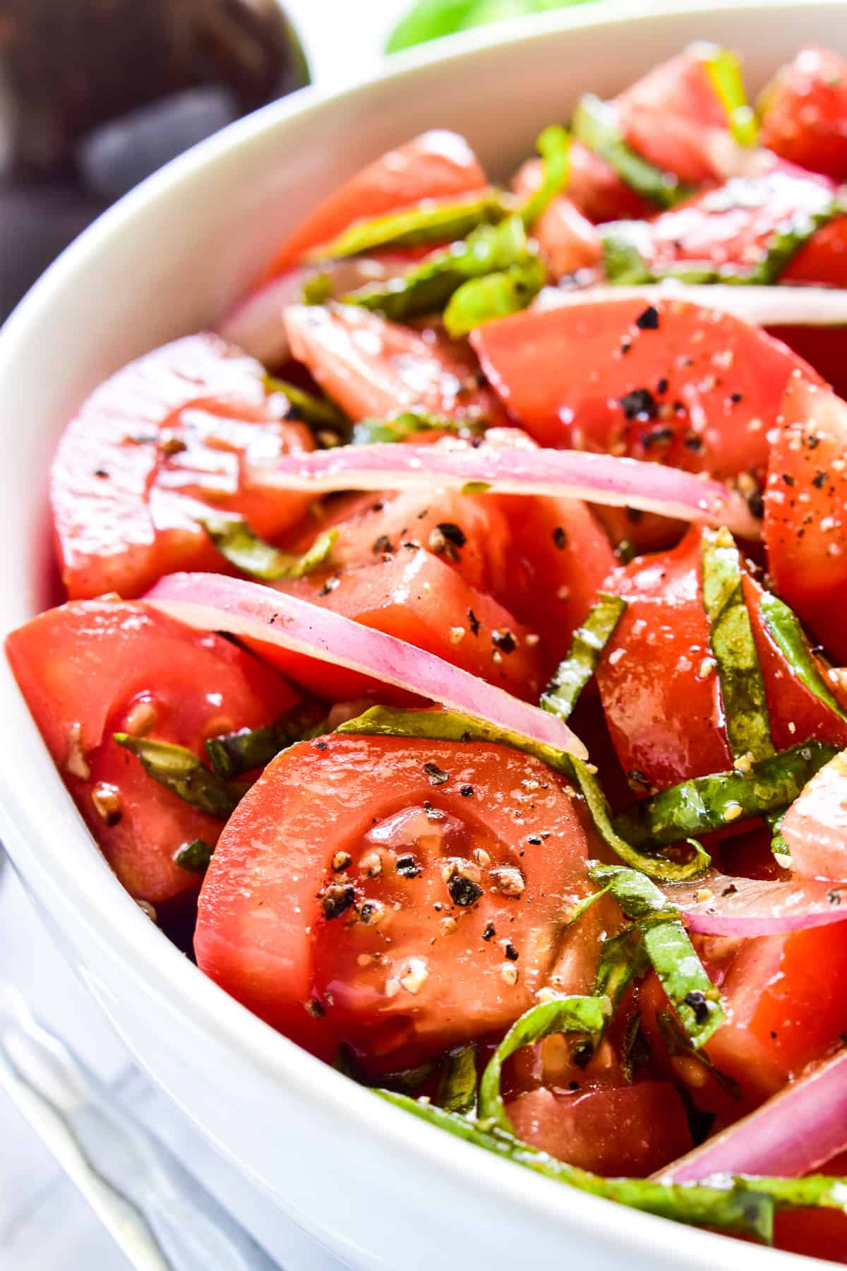 Closeup of Tomato Salad in a bowl
