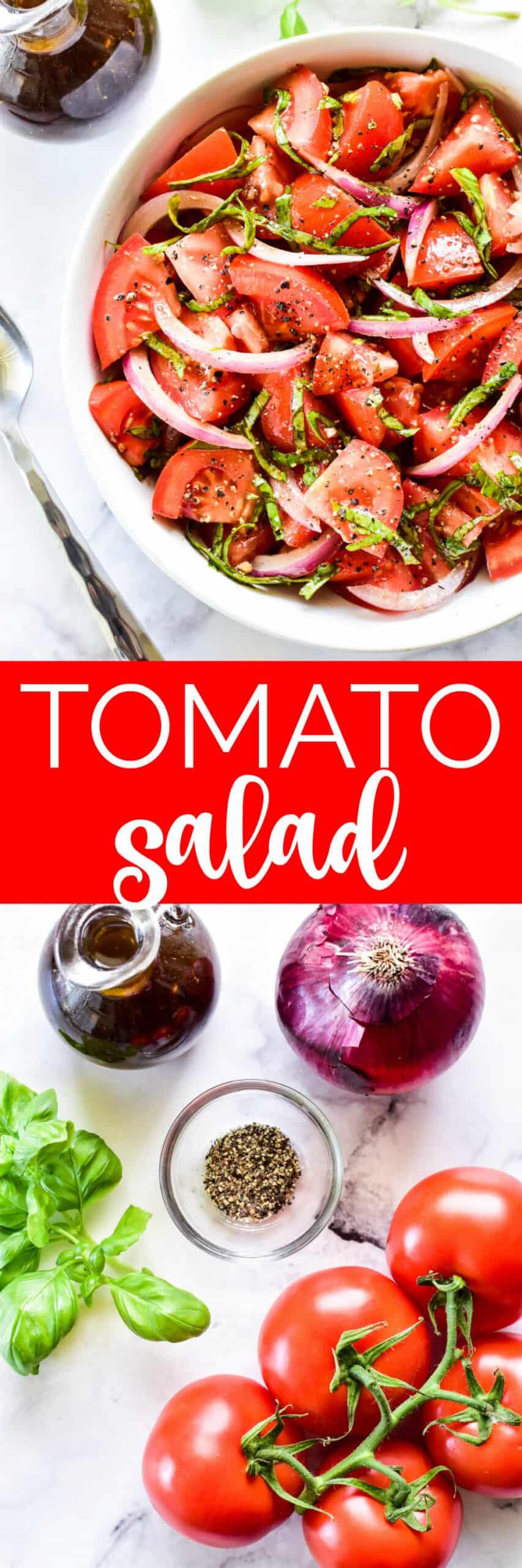 Collage image of Tomato Salad