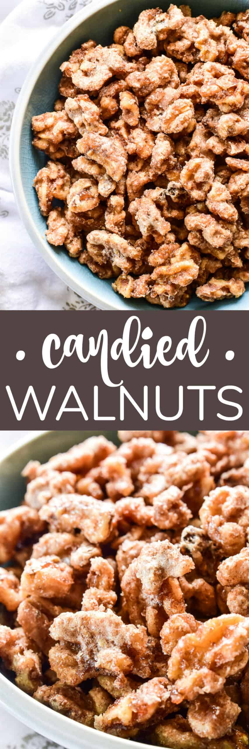 Collage image of Candied Walnuts