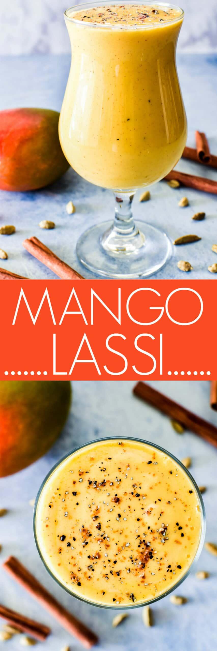 Collage image of Mango Lassi