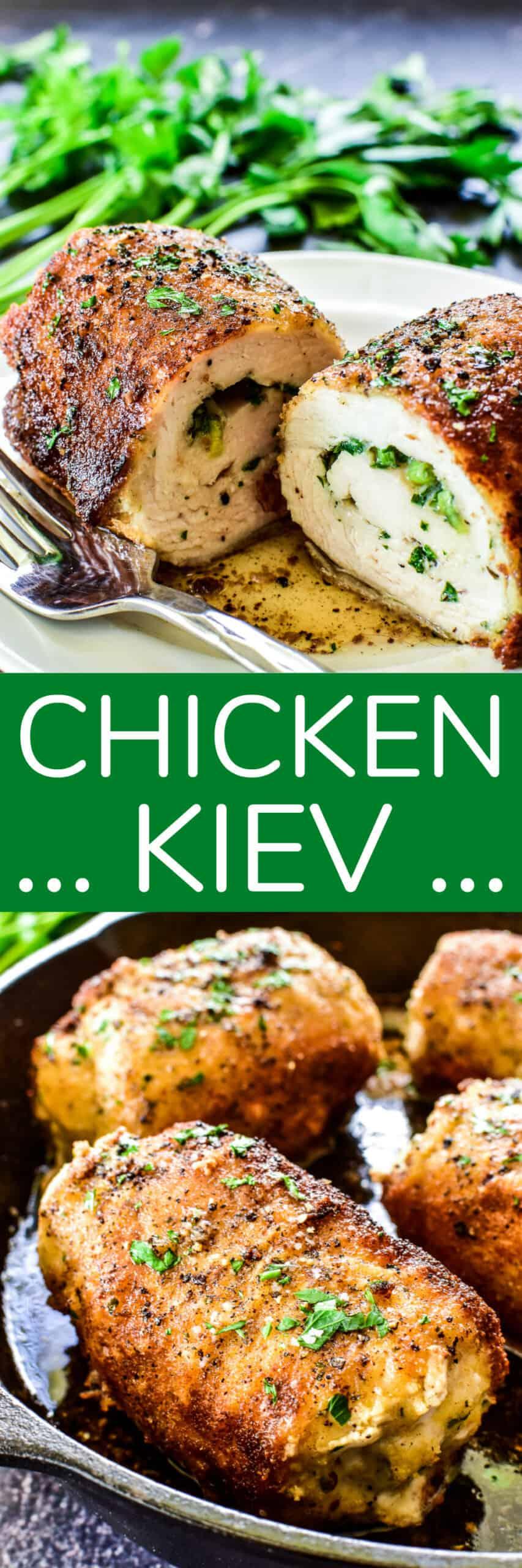 Chicken Kiev collage image