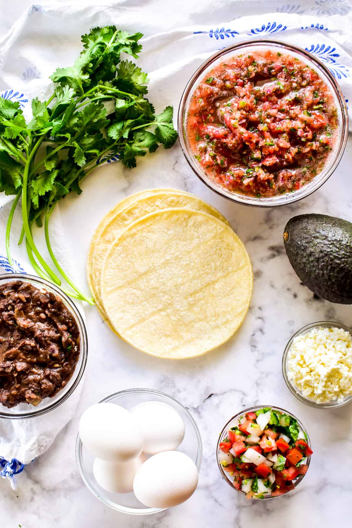 Huevos Rancheros ingredients