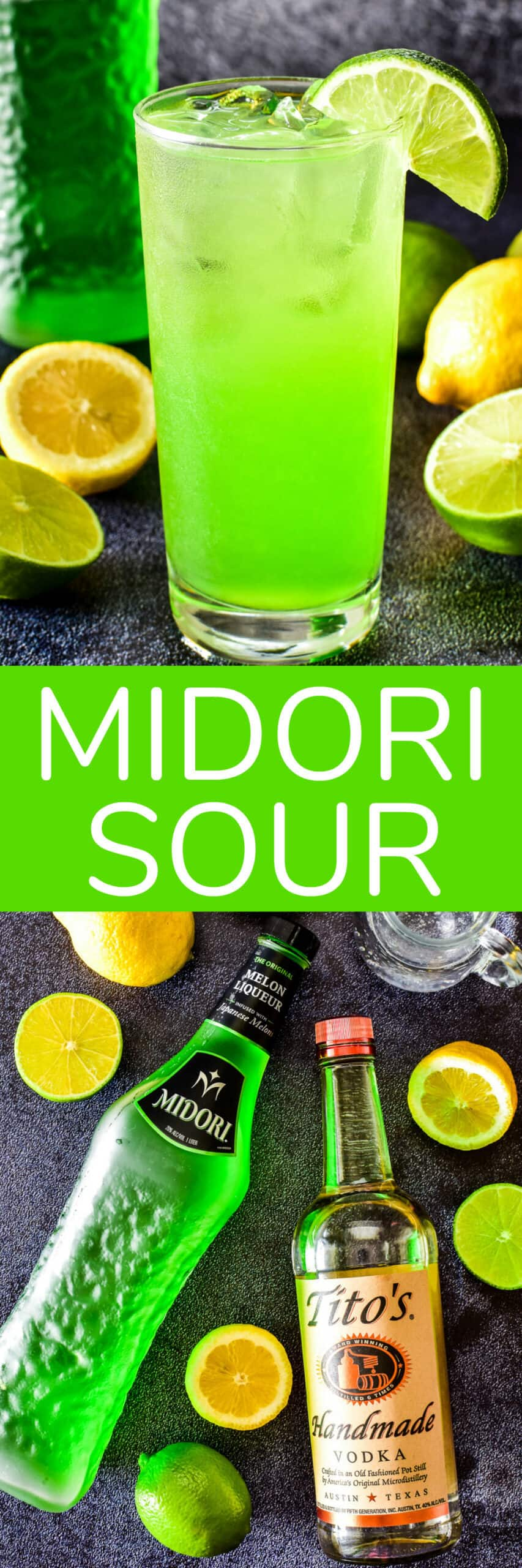 Collage image of Midori Sour