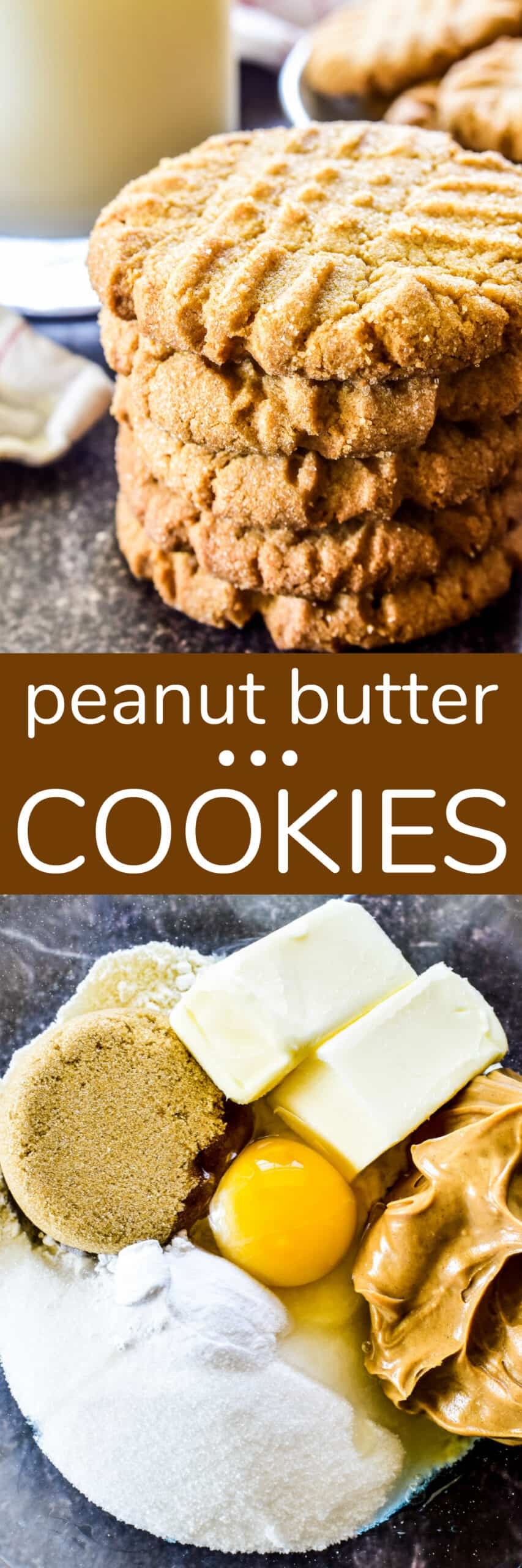 Collage image of Peanut Butter Cookies