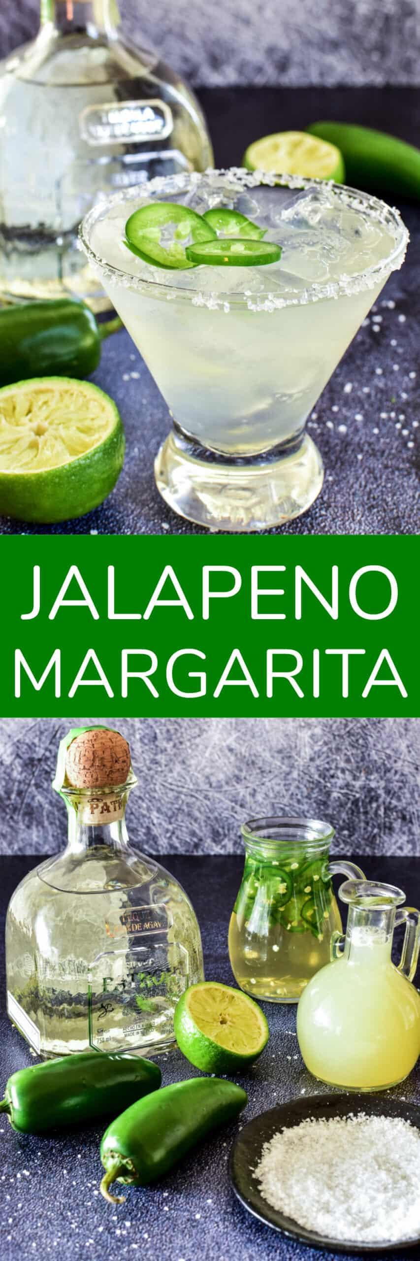 Collage image of Jalapeno Margaritas