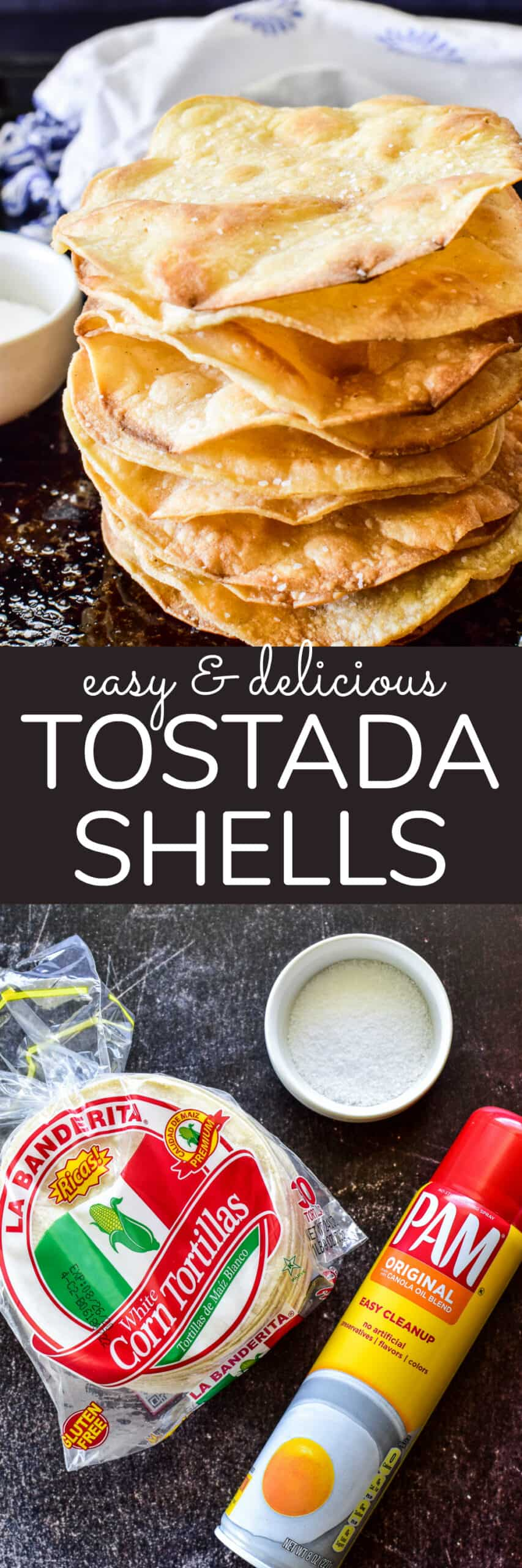 Collage image of Tostada Shells