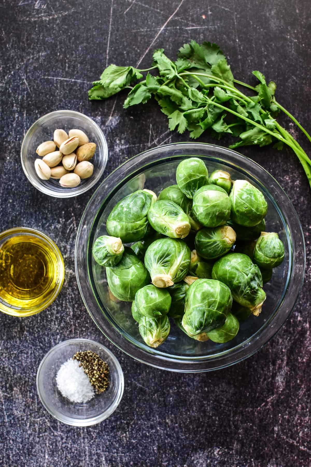 Air Fryer Brussels Sprouts ingredients