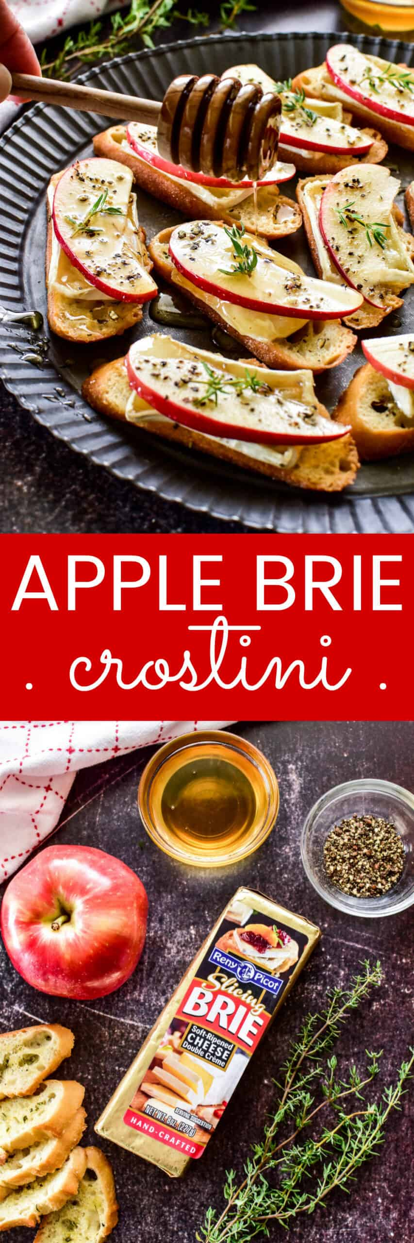 Apple Brie Crostini collage image