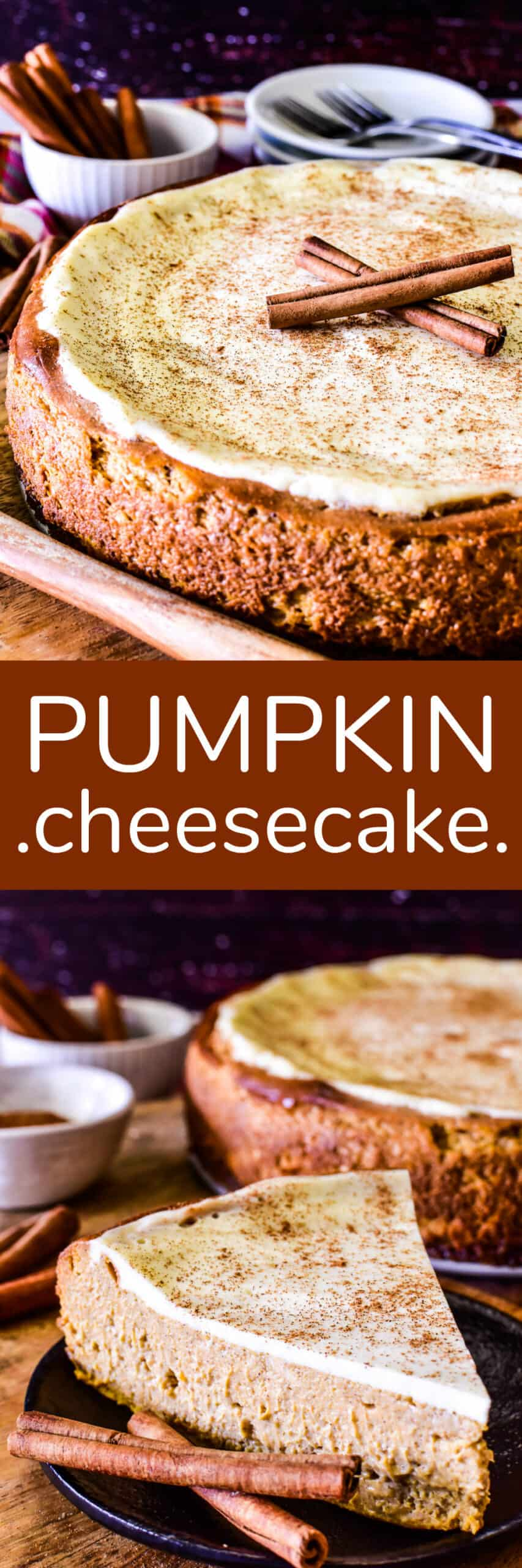 Collage image of Pumpkin Cheesecake