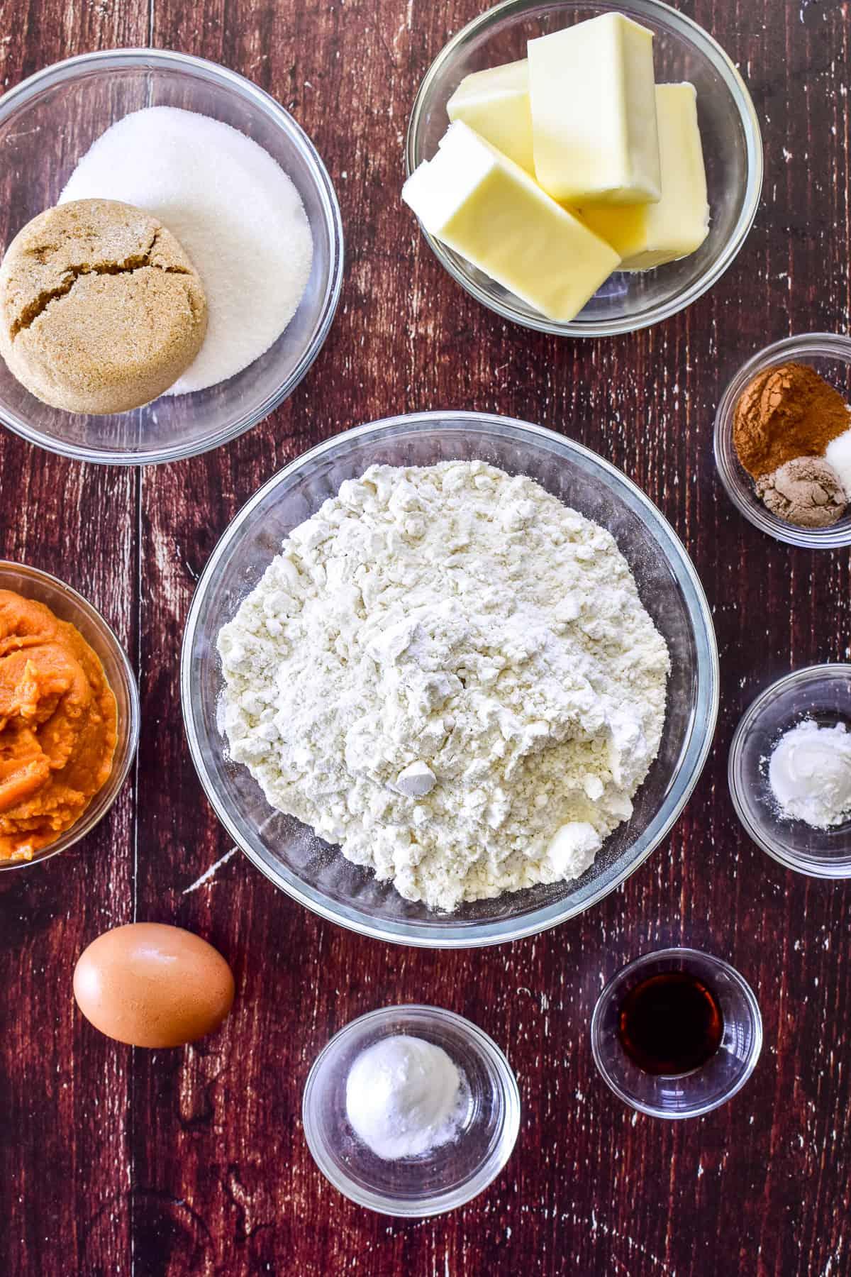 Pumpkin Cookie ingredients