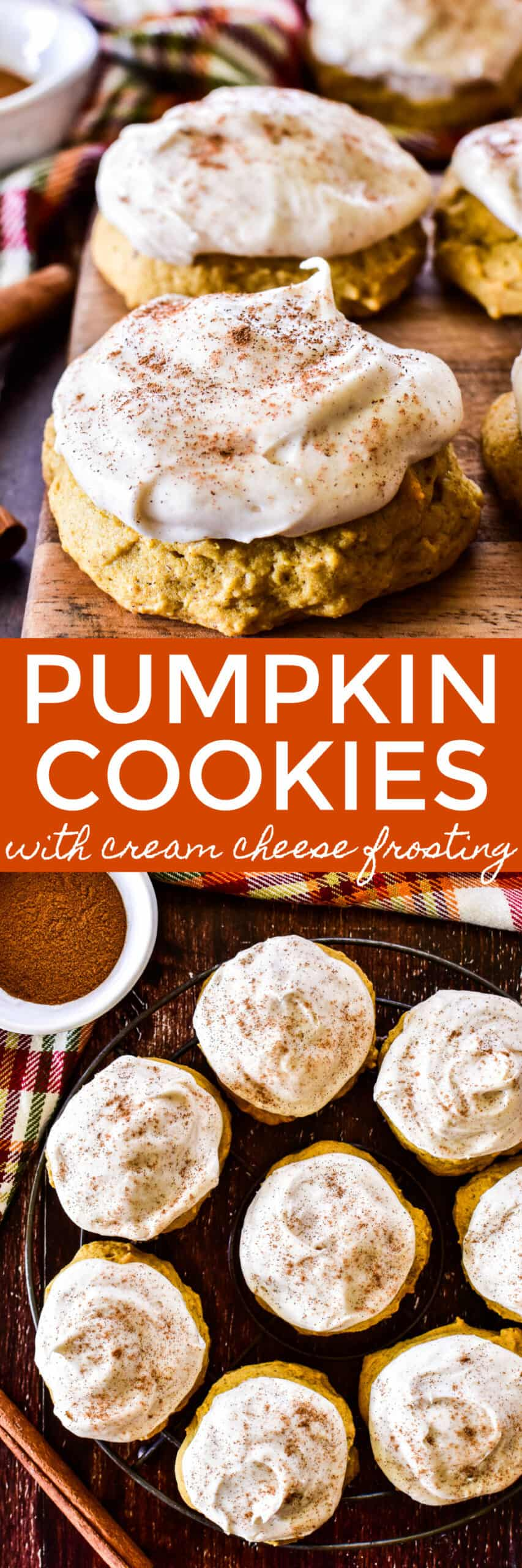 Collage image of Pumpkin Cookies