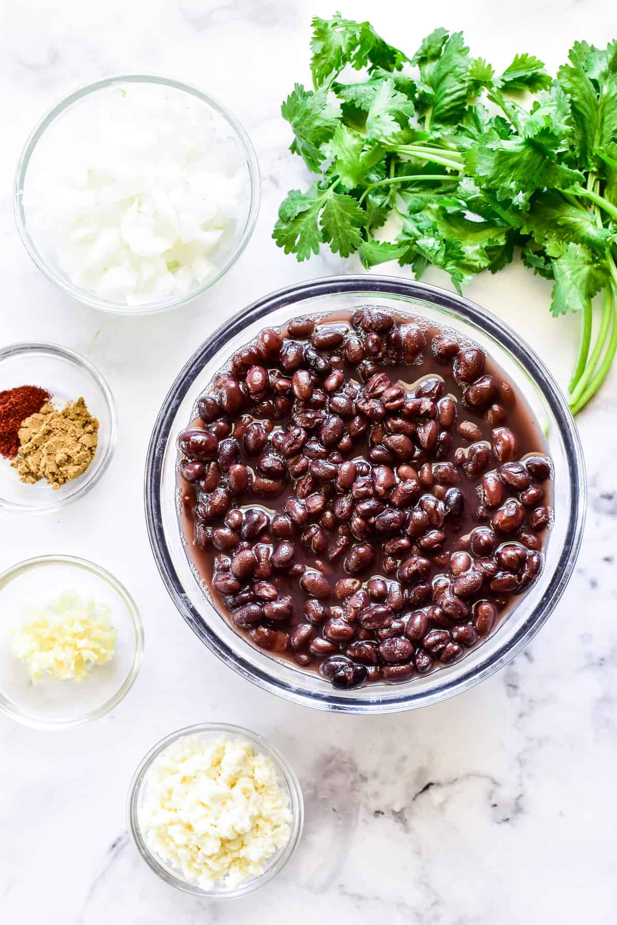 Refried Black Bean ingredients