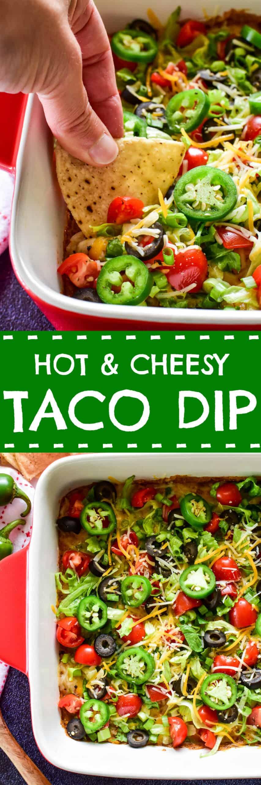 Taco Dip collage image