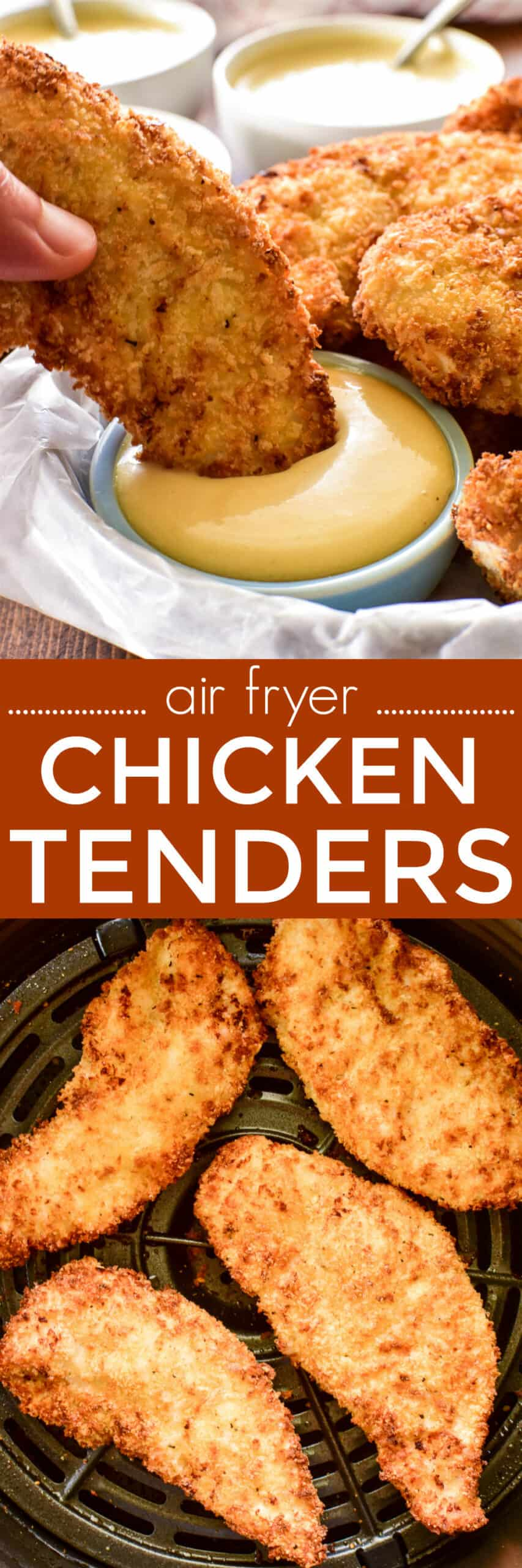 Collage image of Air Fryer Chicken Tenders