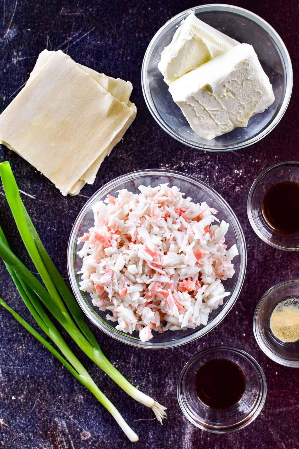 Crab Rangoon ingredients