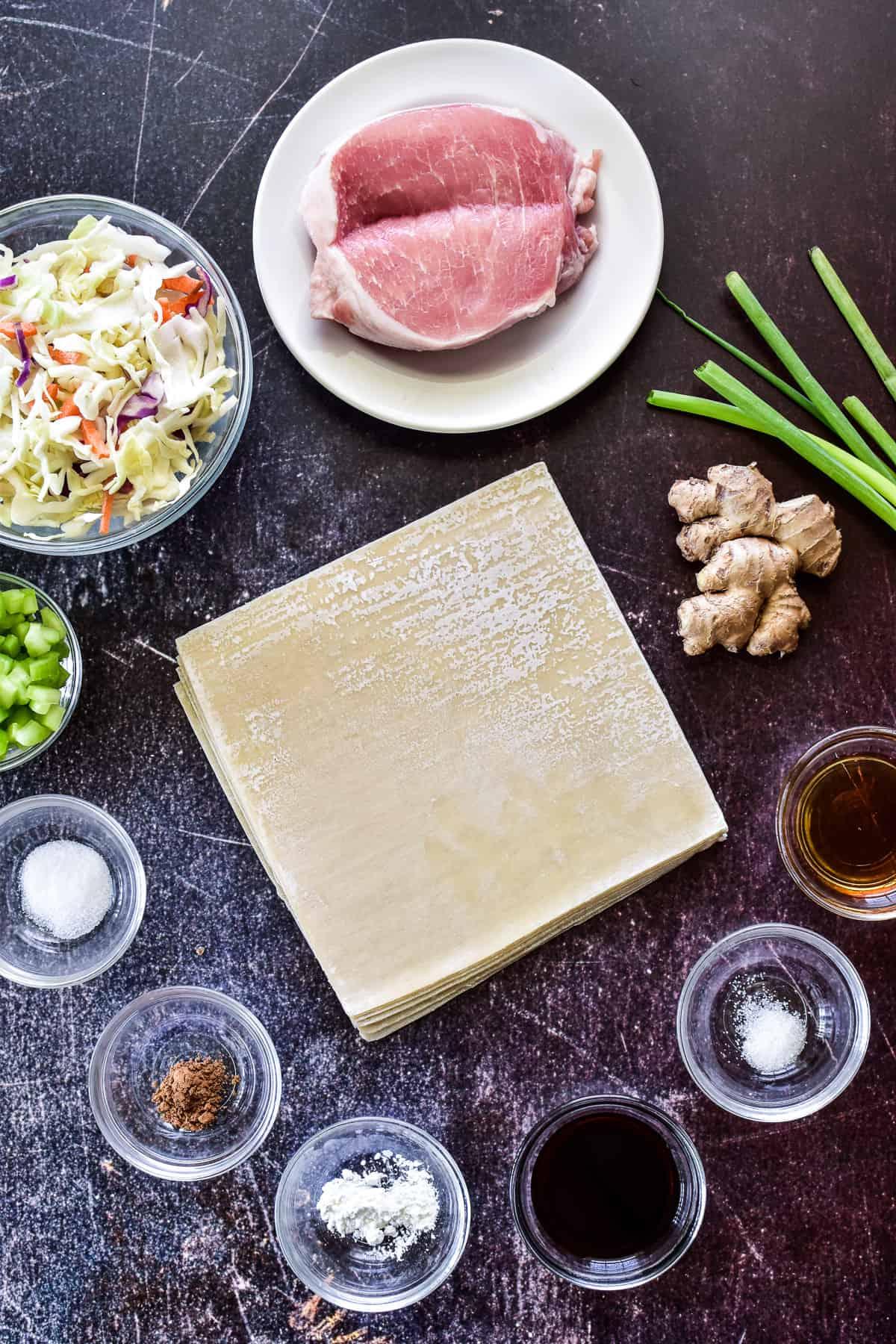 Pork Egg Roll ingredients