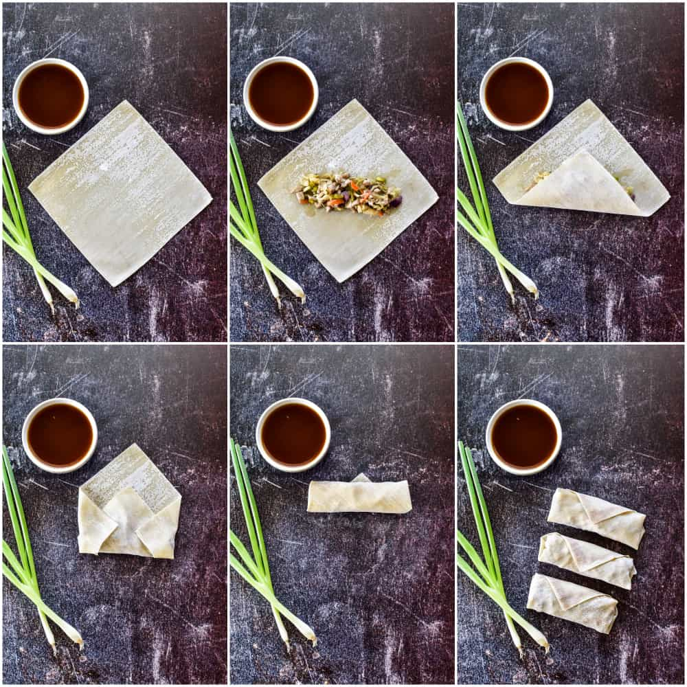 How to fold an egg roll step by step