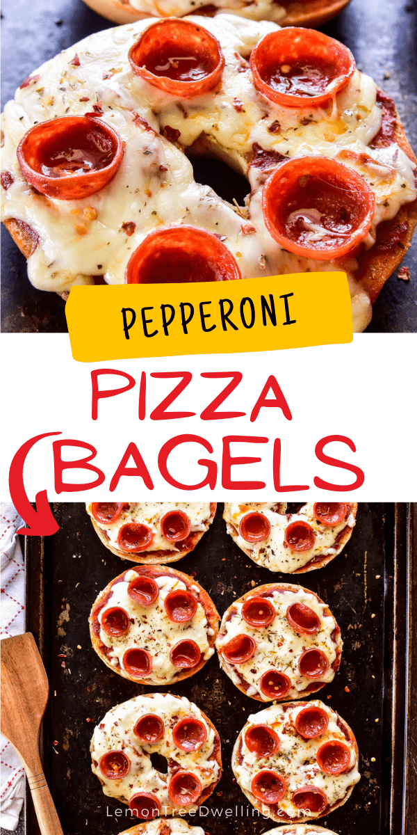 Pizza Bagels collage image