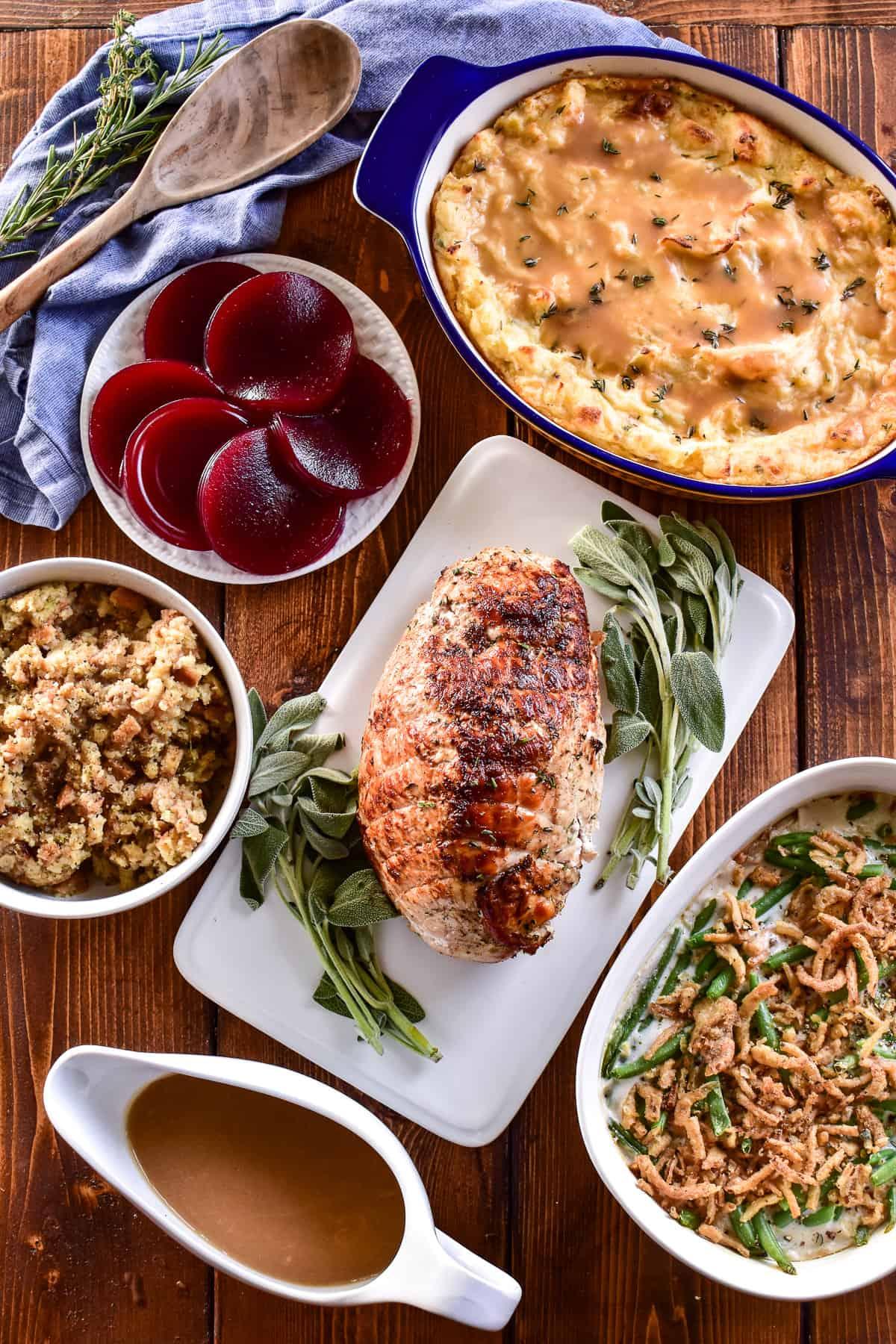 Full Thanksgiving dinner for a family of 5