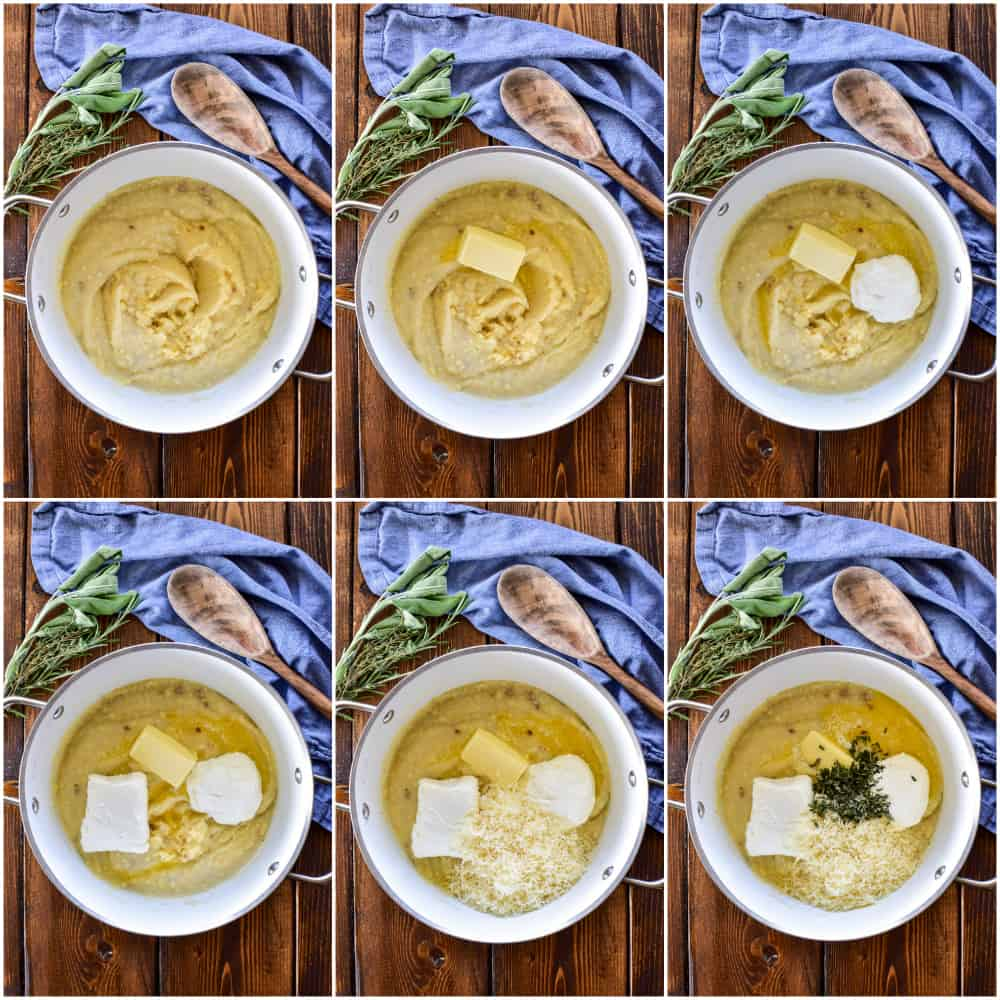Twice Baked Mashed Potato step by step process shots