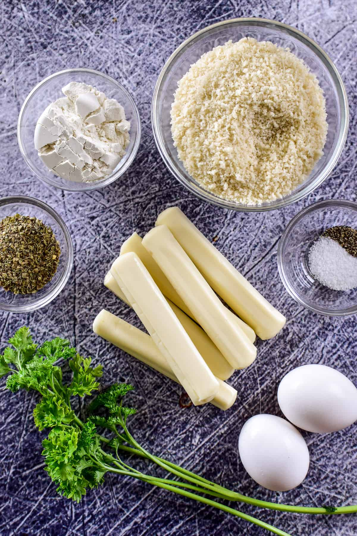 Air Fryer Mozzarella Sticks ingredients
