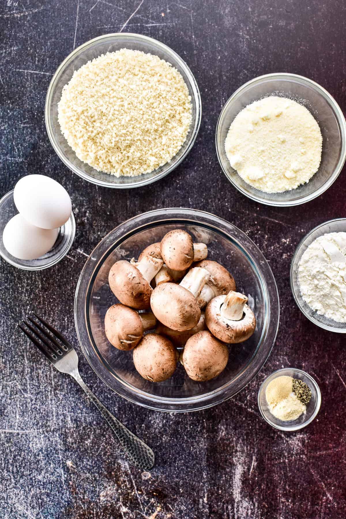 Air Fryer Mushroom ingredients