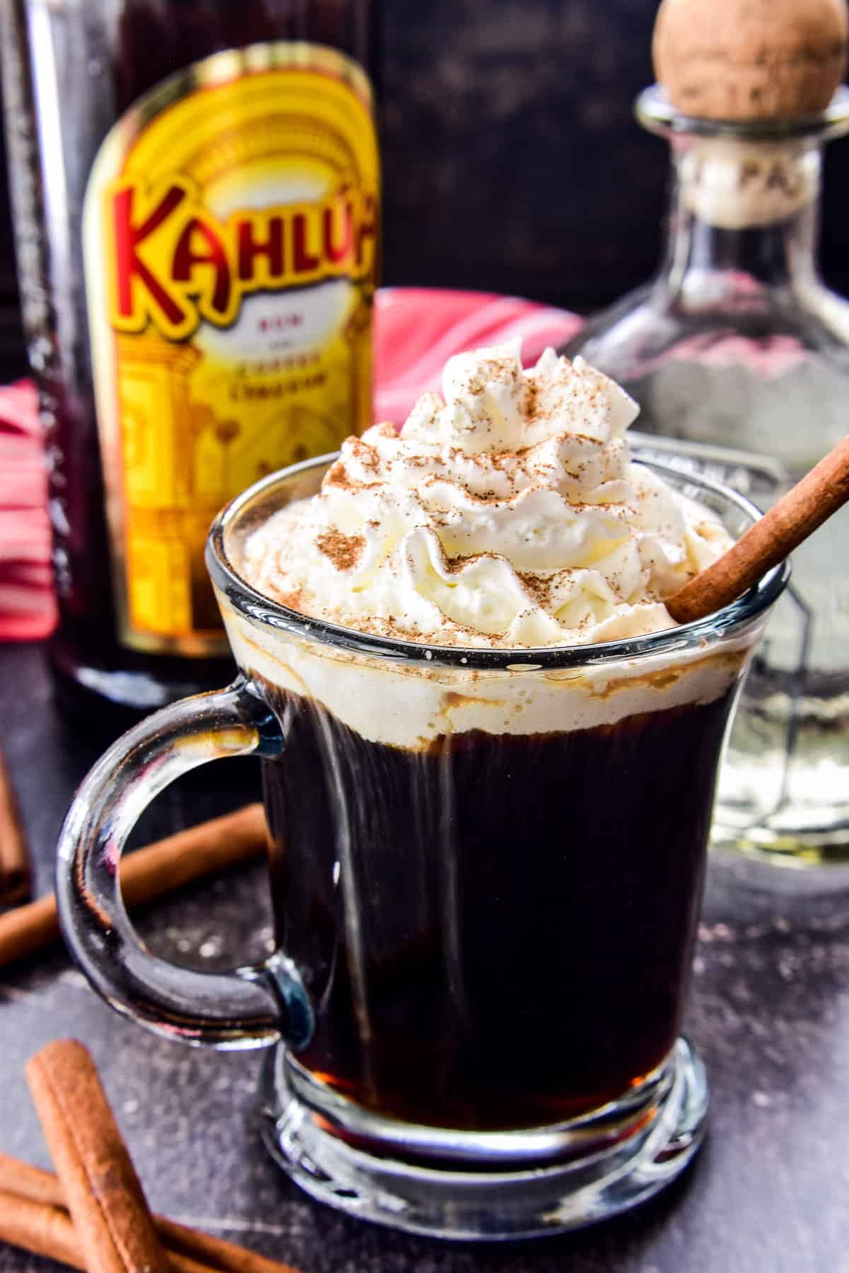 Mexican Coffee Cocktail in a glass mug