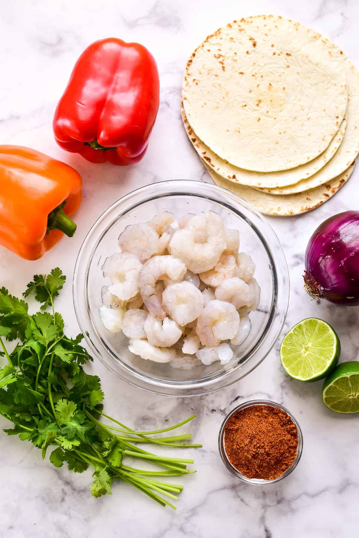 Shrimp Fajita ingredients